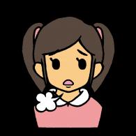 女の子(困)